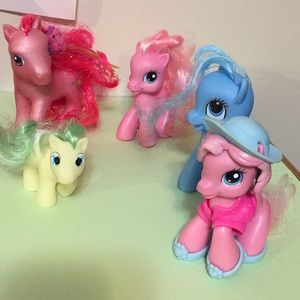 My Little Ponies set of five as shown in pics